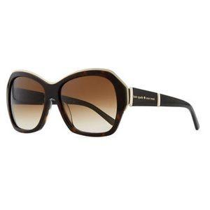 KATE SPADE Gianna tortoise sunglasses 57mm